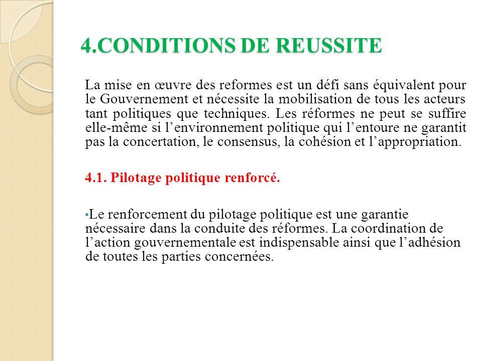 4.CONDITIONS DE REUSSITE