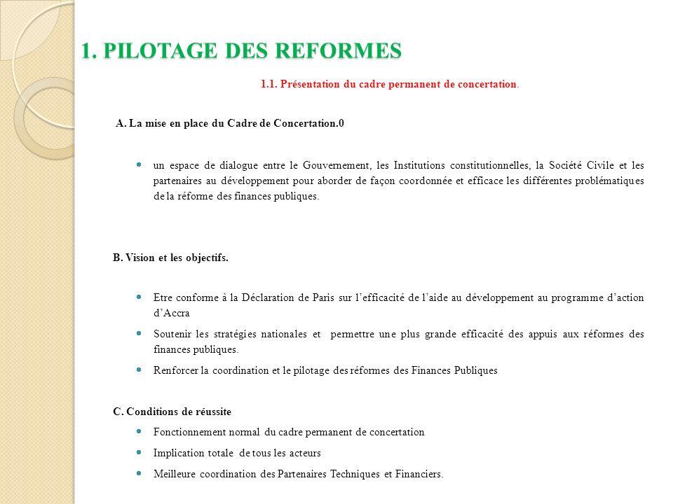 1.1. Présentation du cadre permanent de concertation.