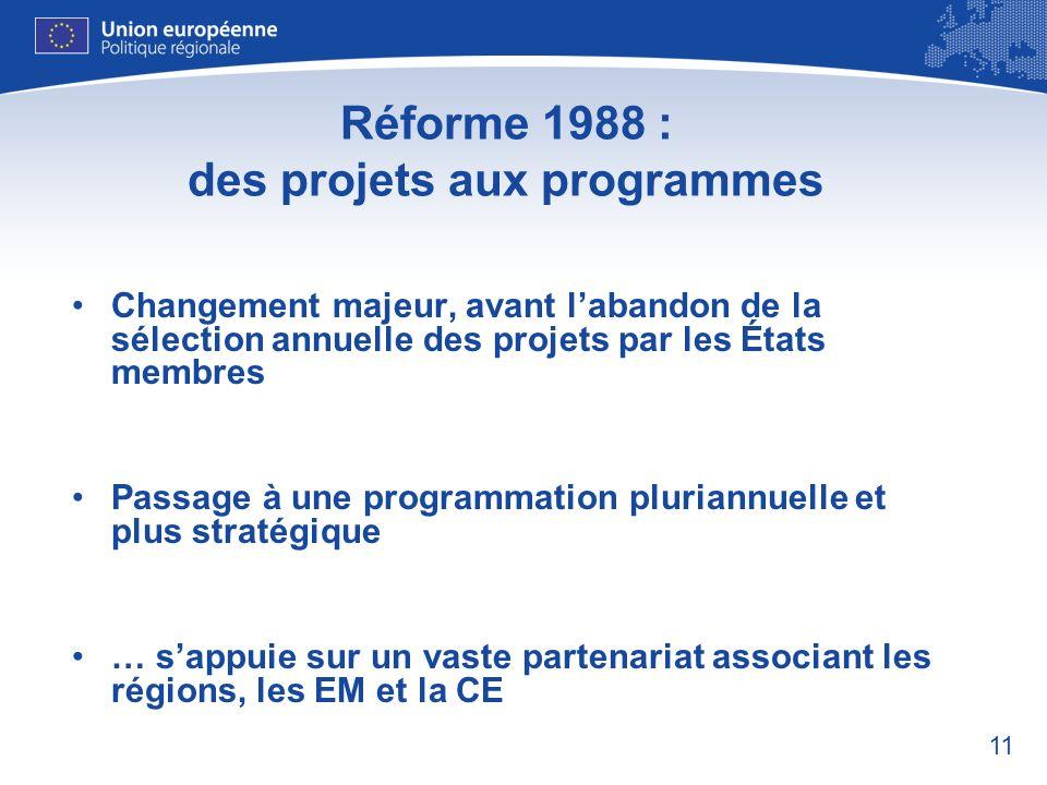 Réforme 1988 : des projets aux programmes