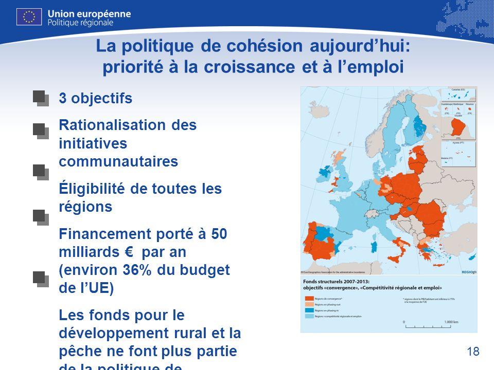 La politique de cohésion aujourd'hui: priorité à la croissance et à l'emploi