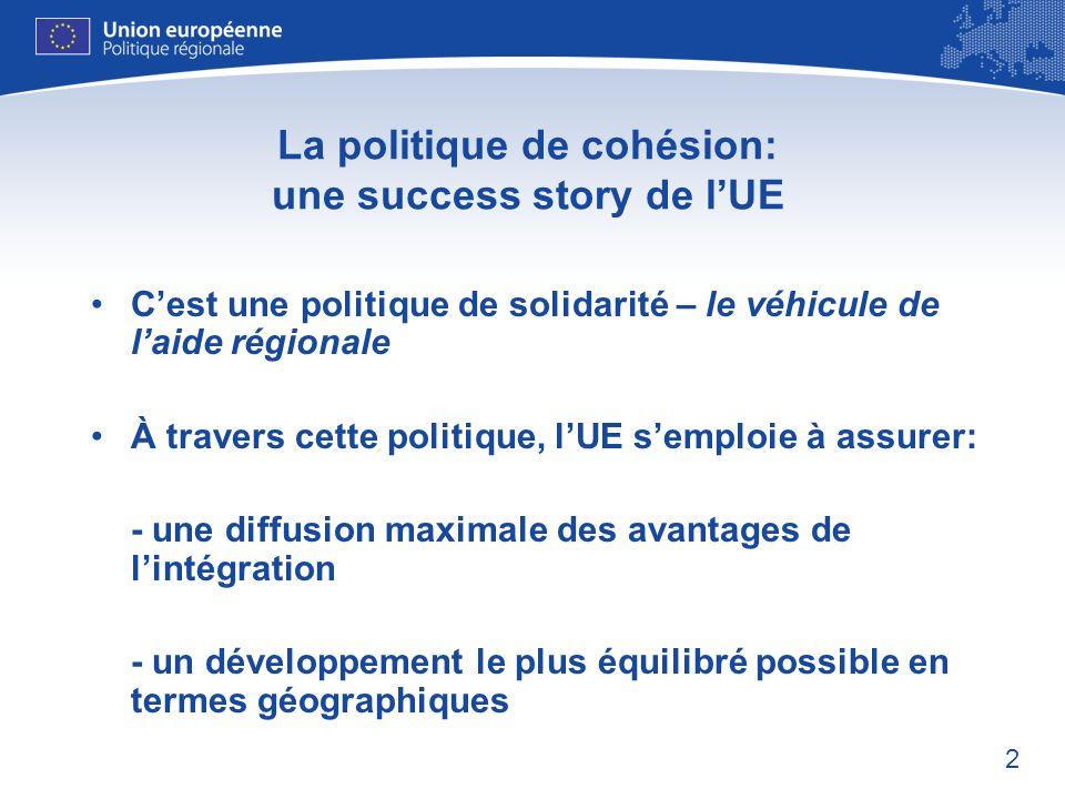 La politique de cohésion: une success story de l'UE