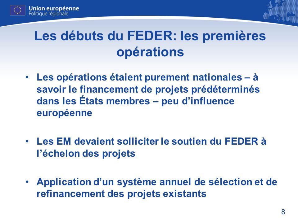 Les débuts du FEDER: les premières opérations