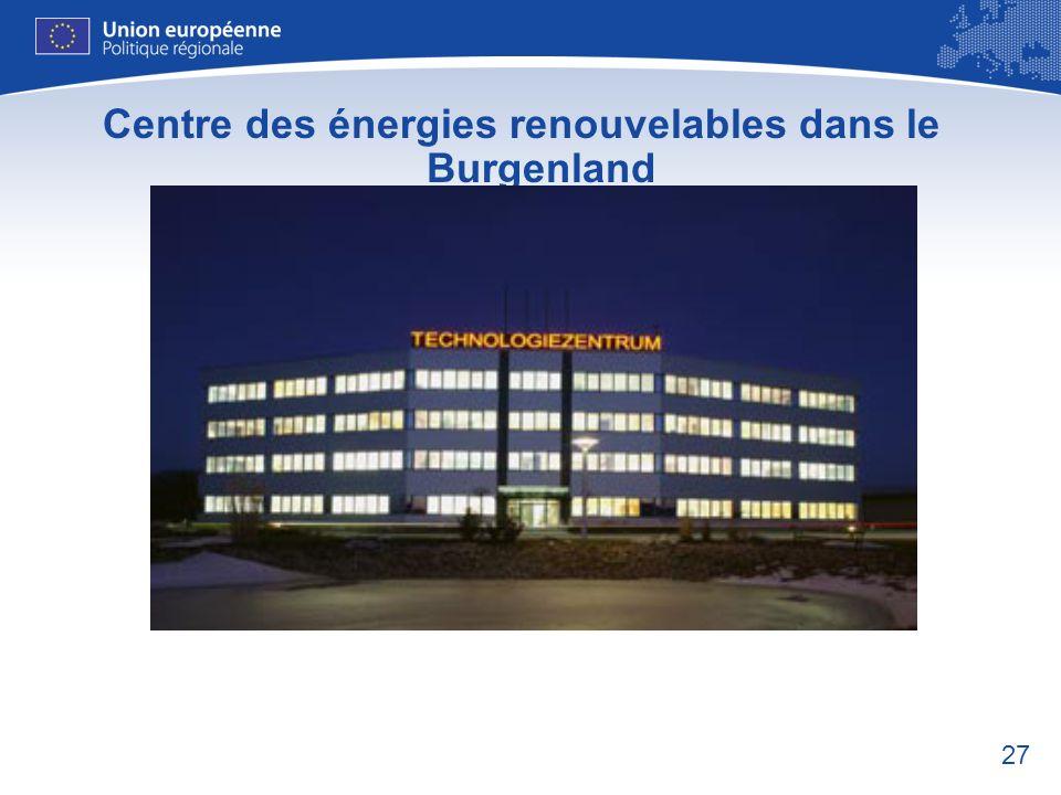 Centre des énergies renouvelables dans le Burgenland