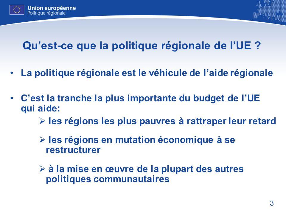 Qu'est-ce que la politique régionale de l'UE