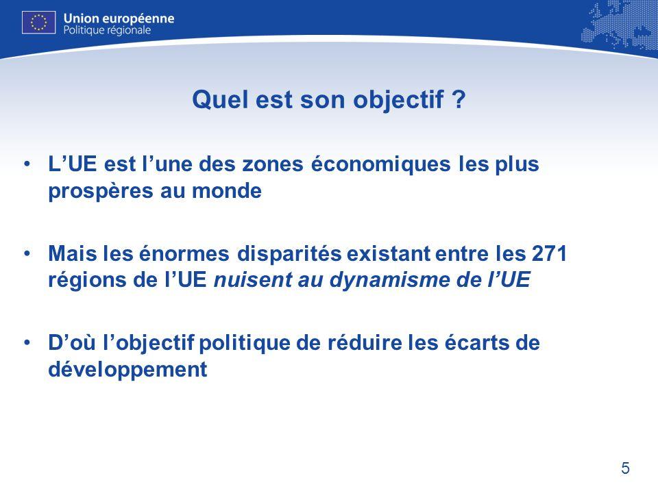 Quel est son objectif L'UE est l'une des zones économiques les plus prospères au monde.