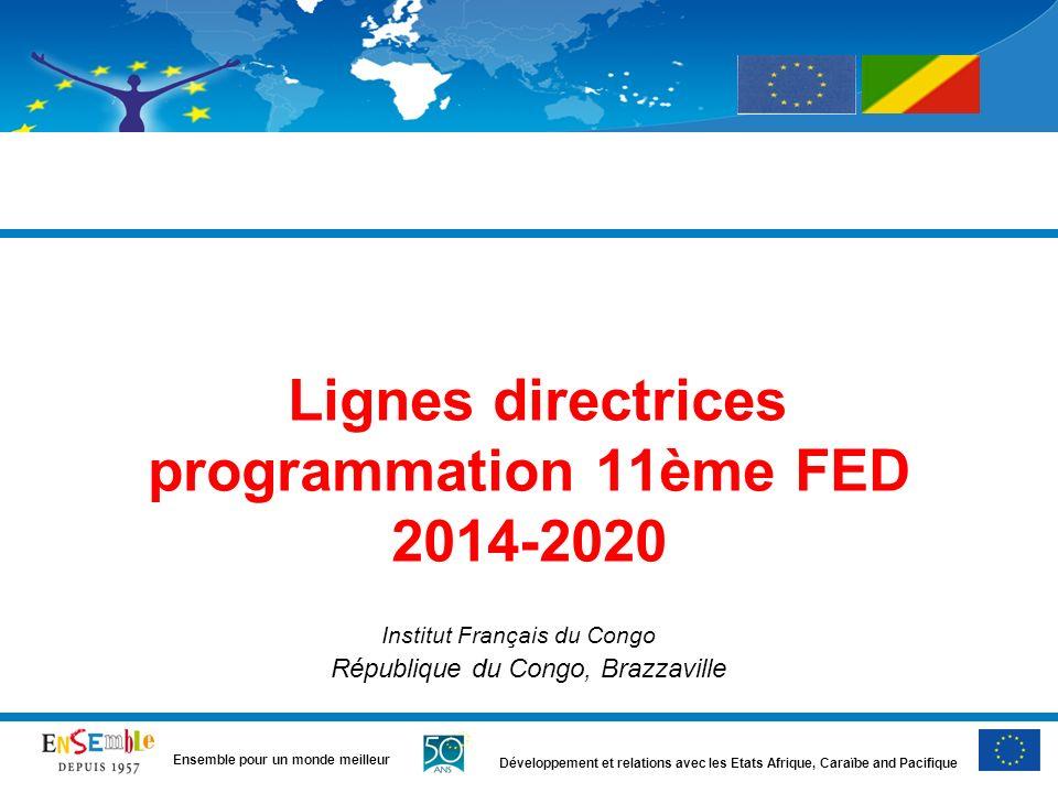 Lignes directrices programmation 11ème FED 2014-2020