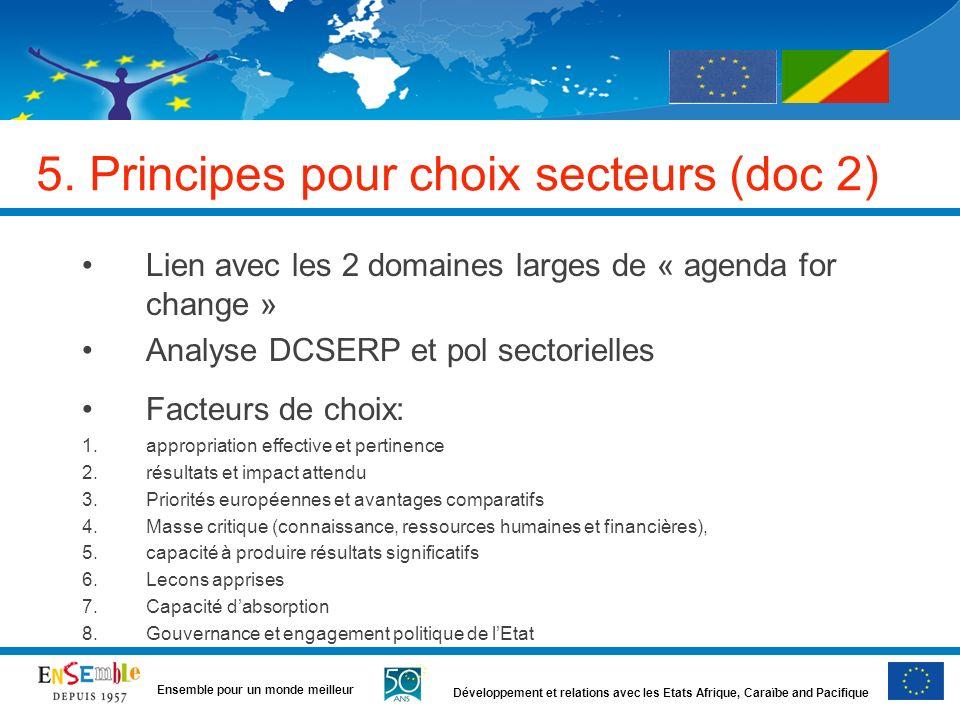 5. Principes pour choix secteurs (doc 2)