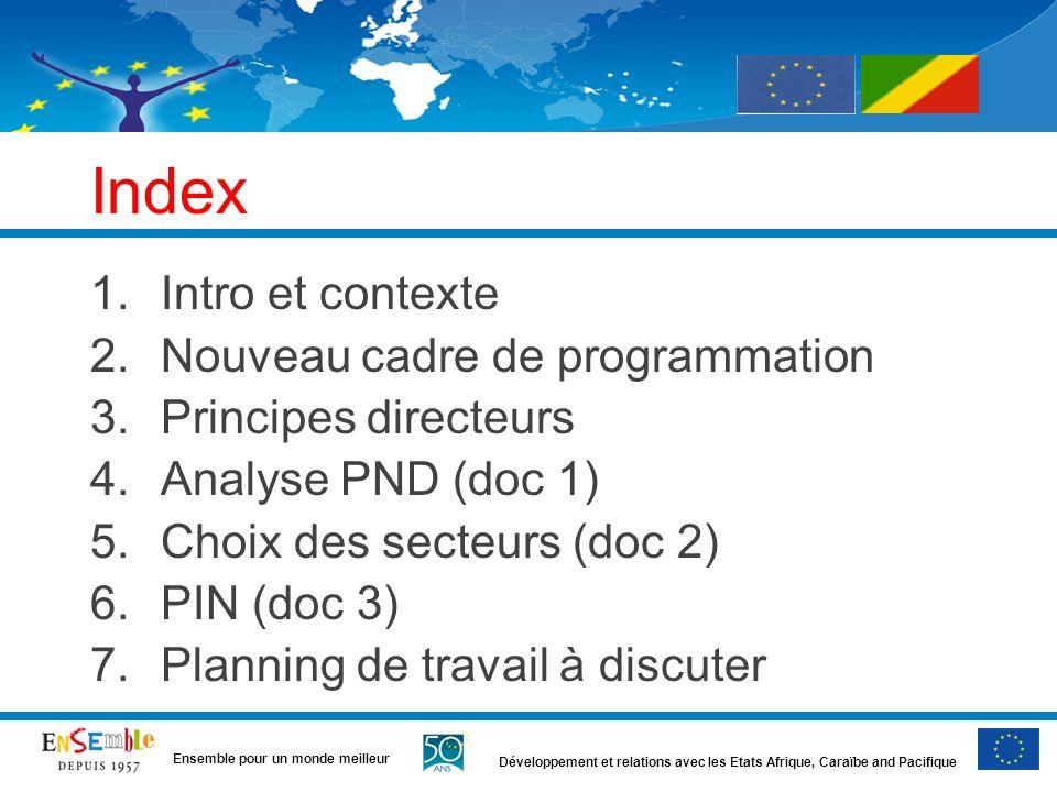 Index Intro et contexte Nouveau cadre de programmation