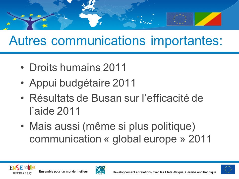 Autres communications importantes:
