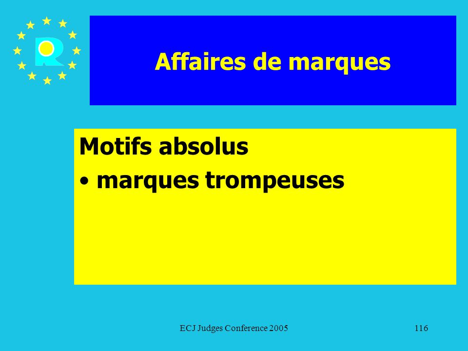 Motifs absolus marques trompeuses
