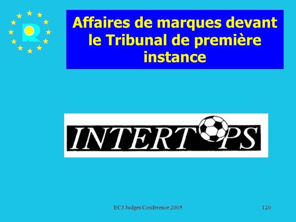 Affaires de marques devant le Tribunal de première instance