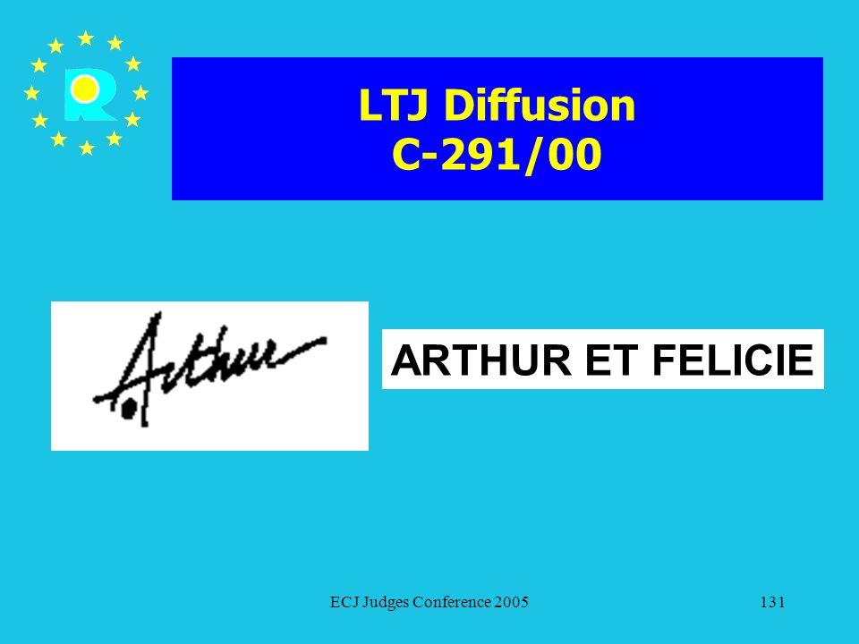 LTJ Diffusion C-291/00 ARTHUR ET FELICIE ECJ Judges Conference 2005