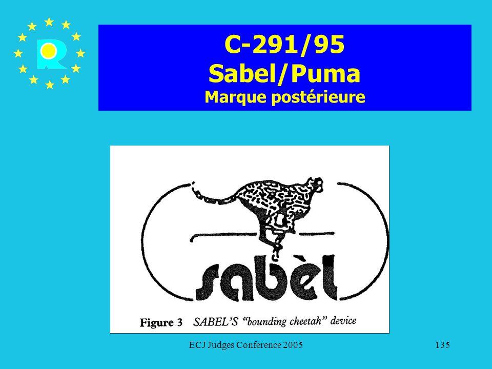 C-291/95 Sabel/Puma Marque postérieure