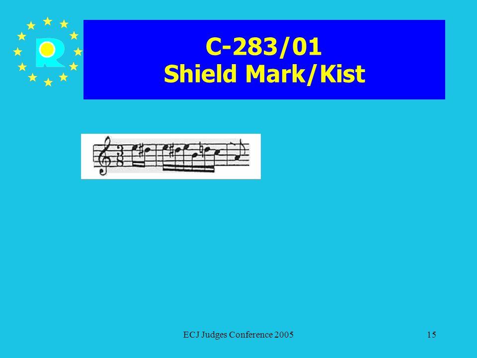 C-283/01 Shield Mark/Kist ECJ Judges Conference 2005