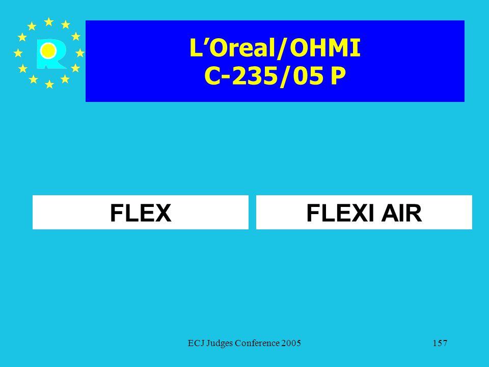 L'Oreal/OHMI C-235/05 P FLEX FLEXI AIR ECJ Judges Conference 2005