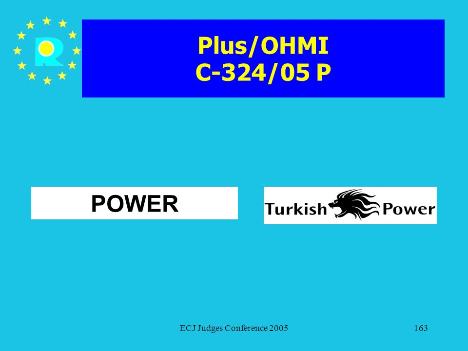 Plus/OHMI C-324/05 P POWER ECJ Judges Conference 2005