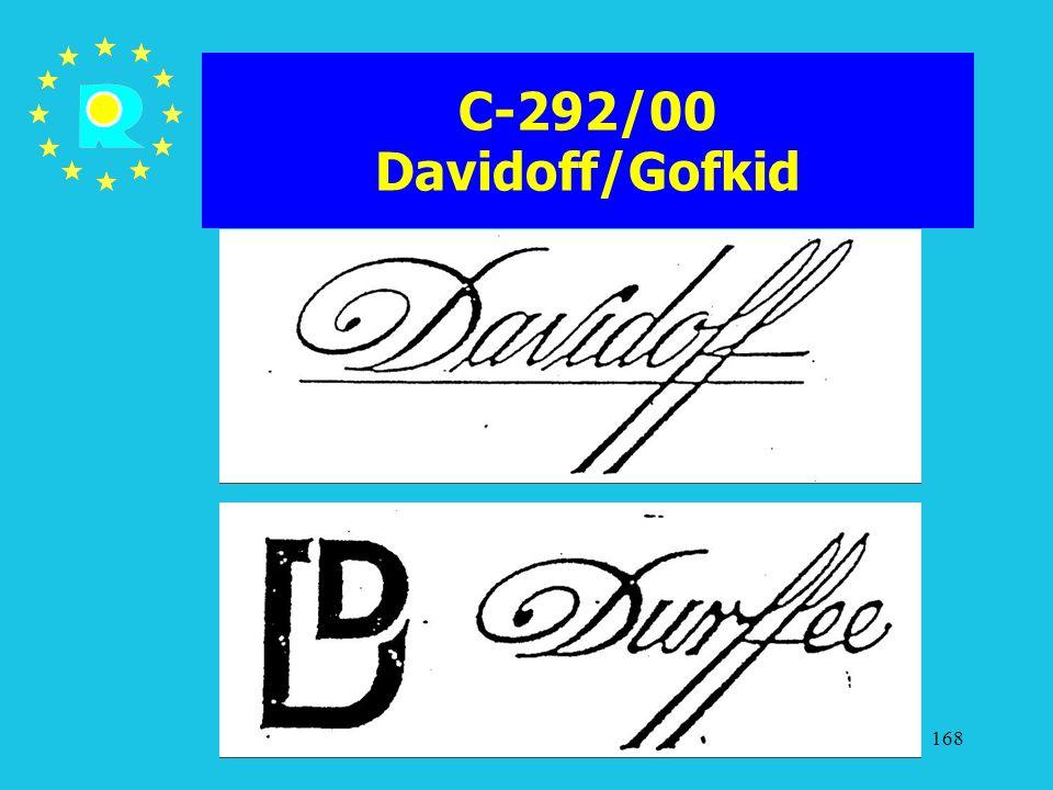 C-292/00 Davidoff/Gofkid ECJ Judges Conference 2005