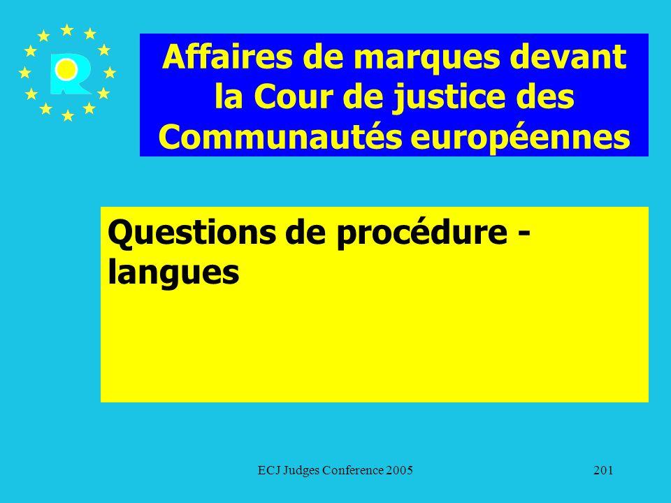 Questions de procédure - langues