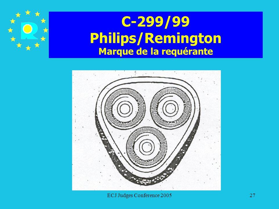 C-299/99 Philips/Remington Marque de la requérante