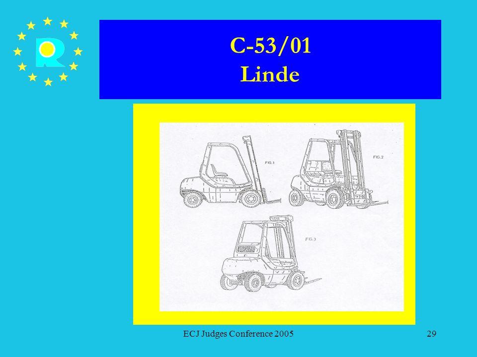 C-53/01 Linde ECJ Judges Conference 2005