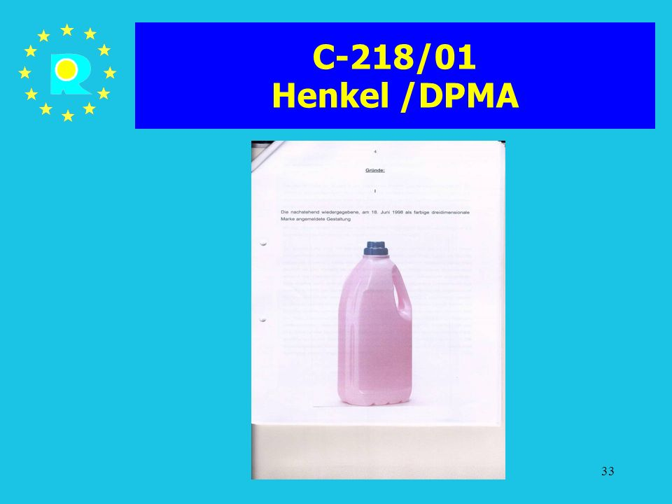 C-218/01 Henkel /DPMA ECJ Judges Conference 2005