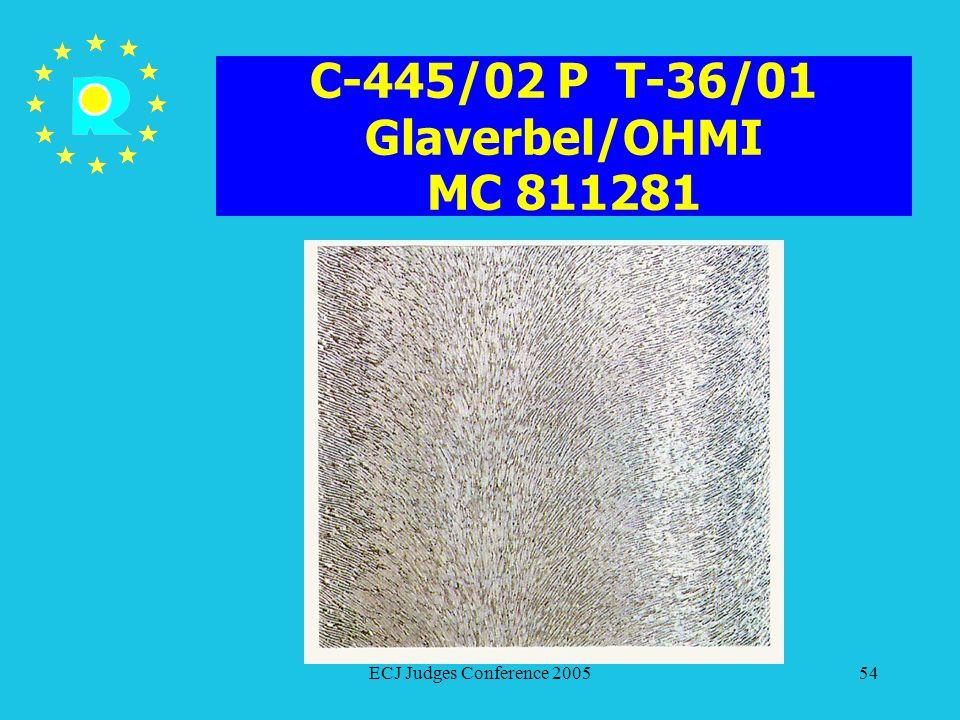 C-445/02 P T-36/01 Glaverbel/OHMI MC 811281