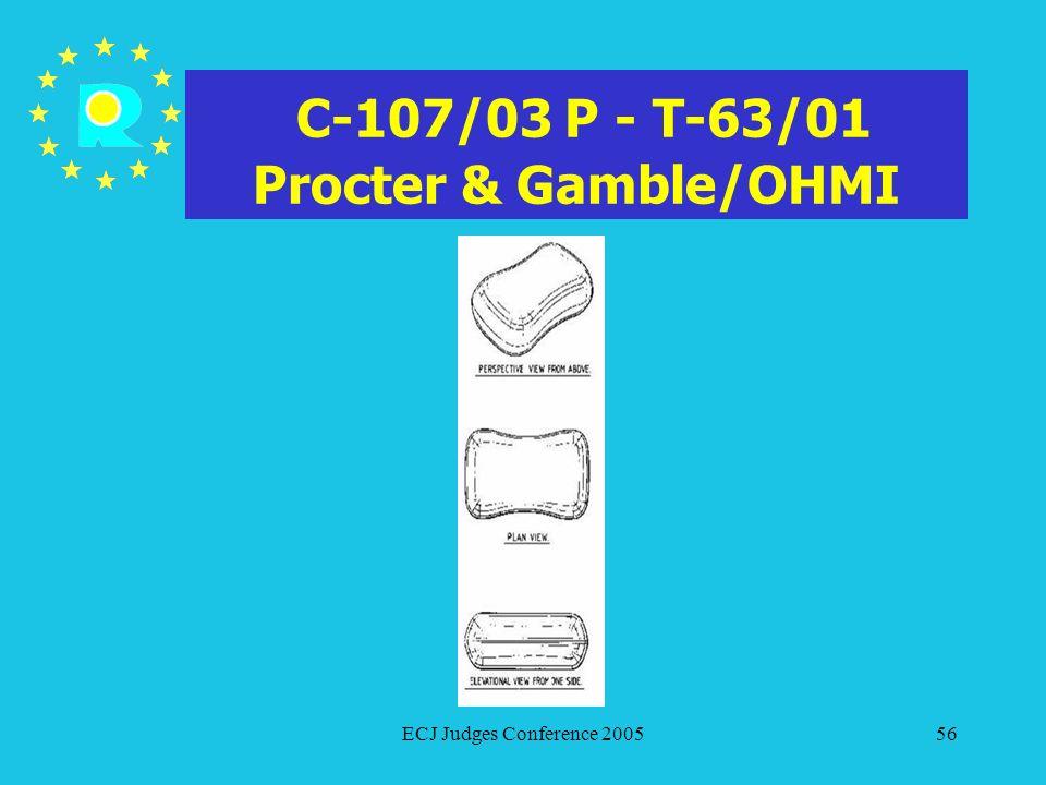 C-107/03 P - T-63/01 Procter & Gamble/OHMI