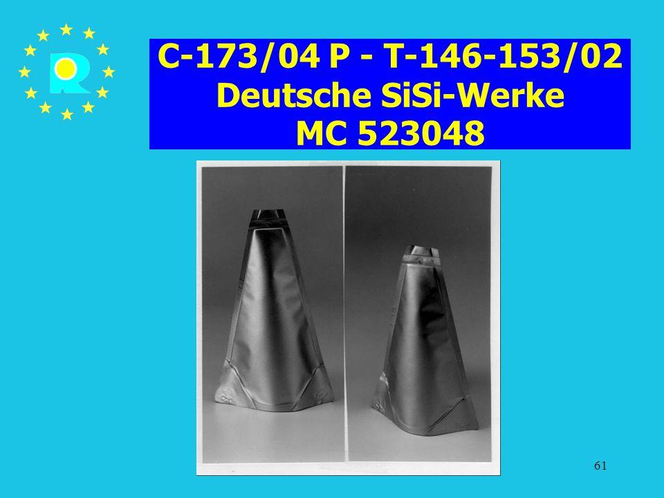C-173/04 P - T-146-153/02 Deutsche SiSi-Werke MC 523048