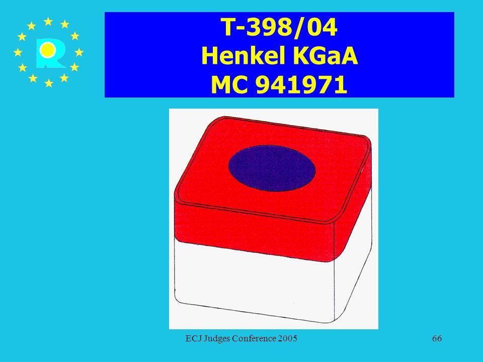 T-398/04 Henkel KGaA MC 941971 ECJ Judges Conference 2005