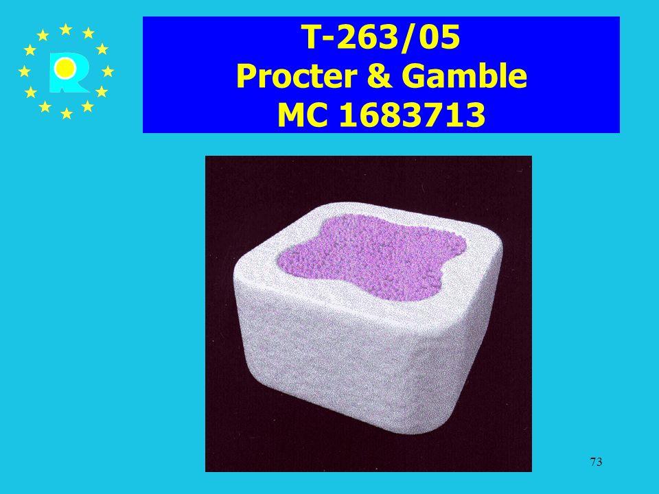 T-263/05 Procter & Gamble MC 1683713 ECJ Judges Conference 2005