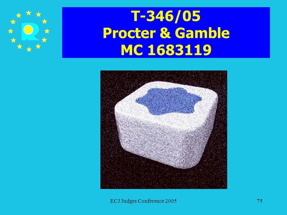 T-346/05 Procter & Gamble MC 1683119 ECJ Judges Conference 2005