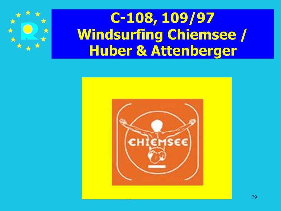 C-108, 109/97 Windsurfing Chiemsee / Huber & Attenberger