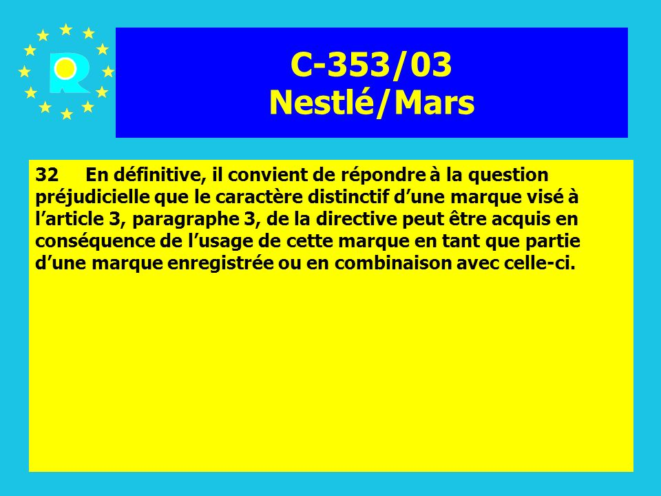 C-353/03 Nestlé/Mars