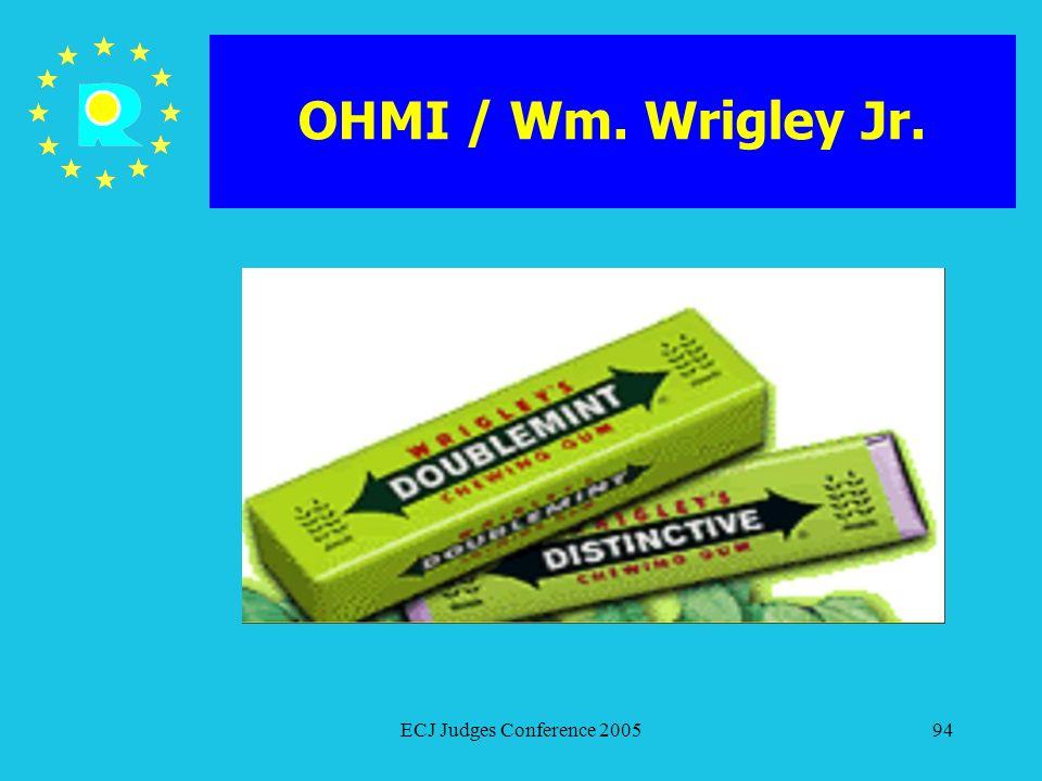 OHMI / Wm. Wrigley Jr. ECJ Judges Conference 2005