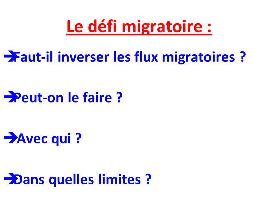 Le défi migratoire : Faut-il inverser les flux migratoires