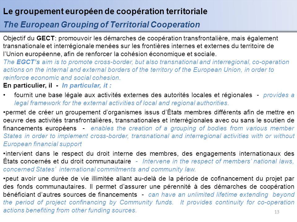 Le groupement européen de coopération territoriale
