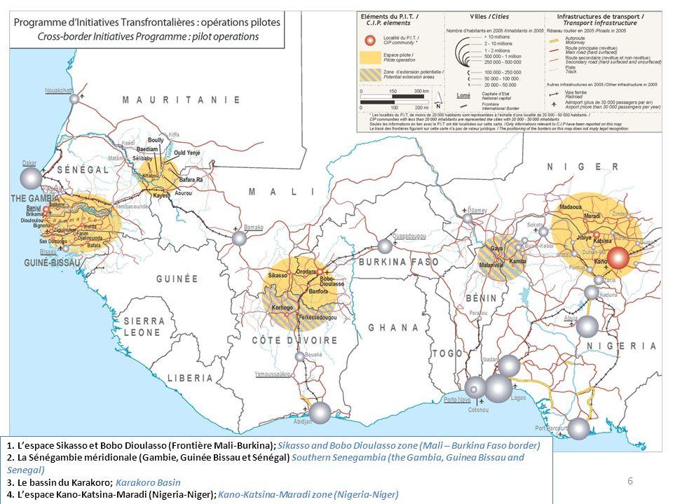 1. L'espace Sikasso et Bobo Dioulasso (Frontière Mali-Burkina); Sikasso and Bobo Dioulasso zone (Mali – Burkina Faso border)