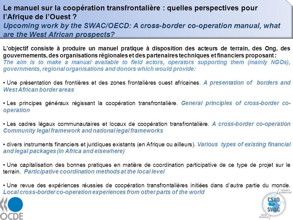 Le manuel sur la coopération transfrontalière : quelles perspectives pour l'Afrique de l'Ouest