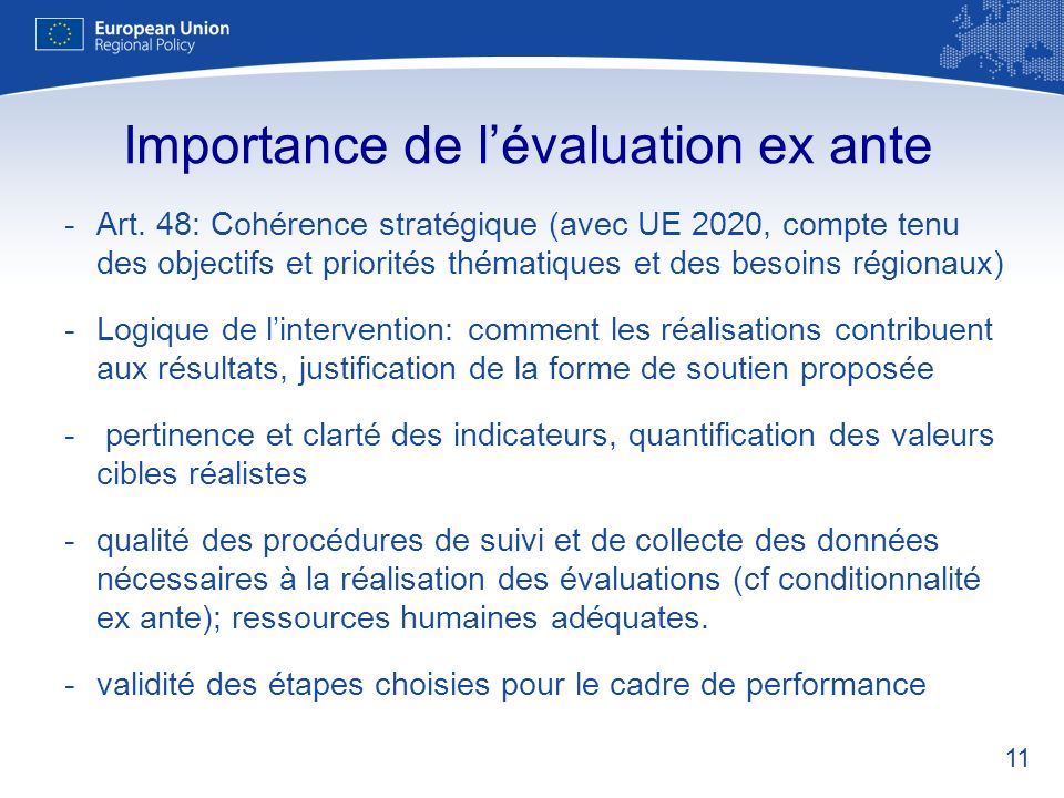 Importance de l'évaluation ex ante