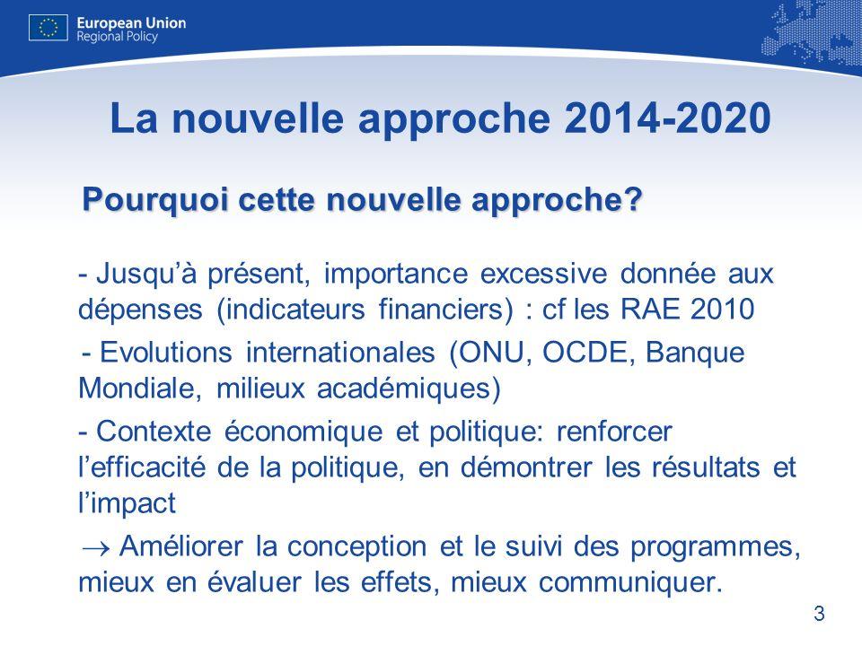 La nouvelle approche 2014-2020