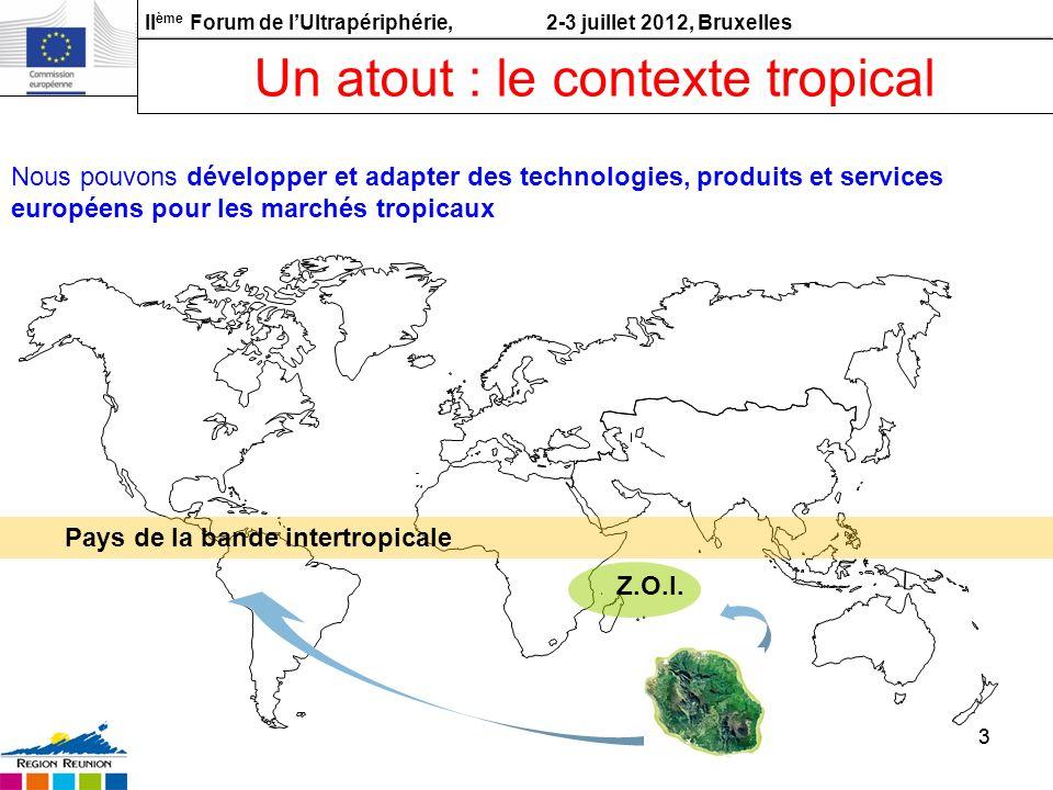 Un atout : le contexte tropical