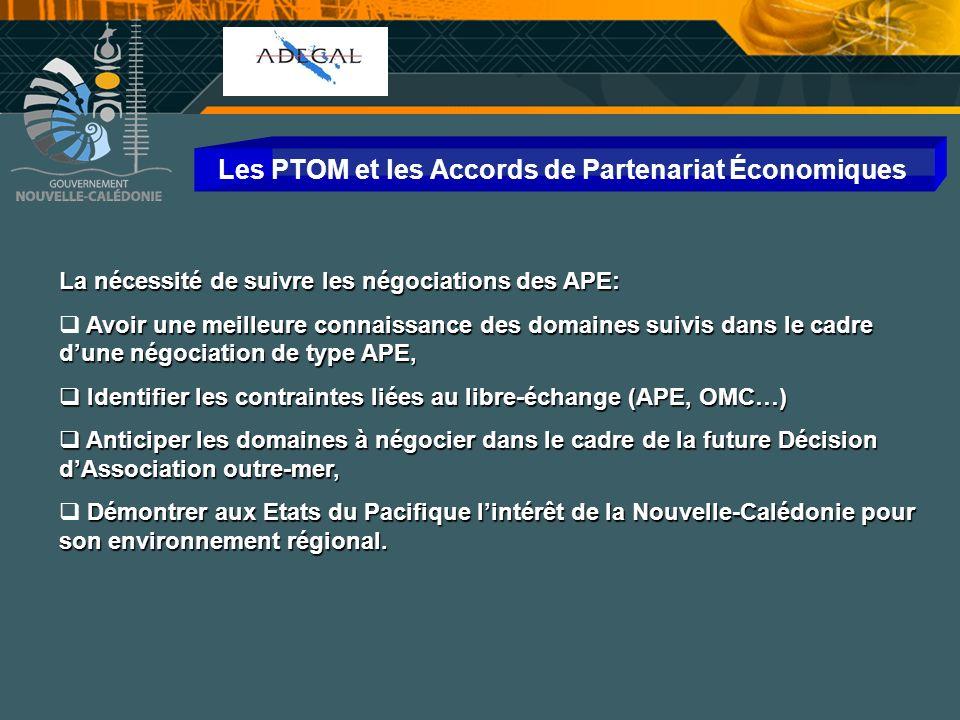 Les PTOM et les Accords de Partenariat Économiques