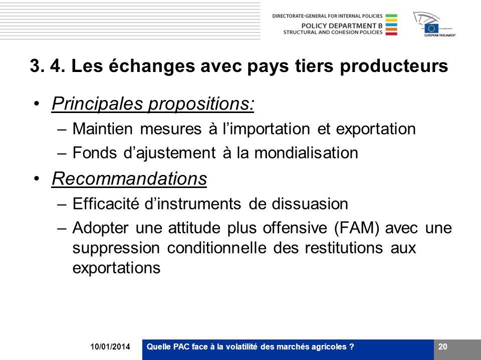 3. 4. Les échanges avec pays tiers producteurs