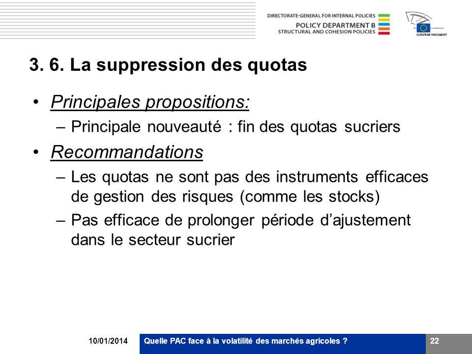 3. 6. La suppression des quotas
