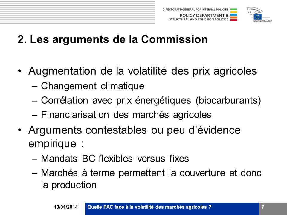 2. Les arguments de la Commission