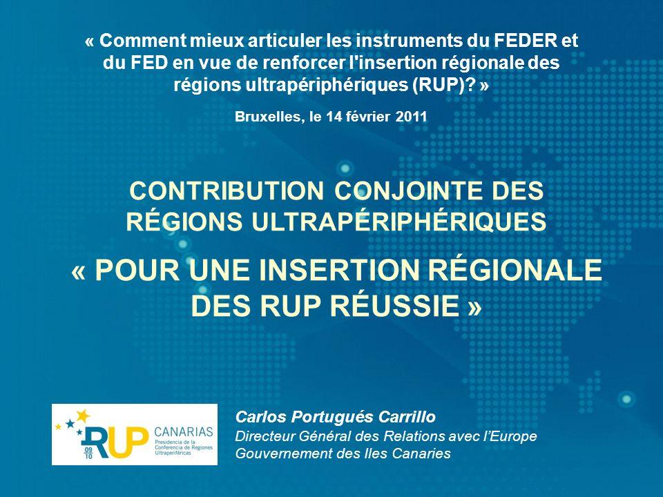« POUR UNE INSERTION RÉGIONALE DES RUP RÉUSSIE »
