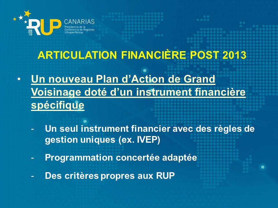 ARTICULATION FINANCIÈRE POST 2013