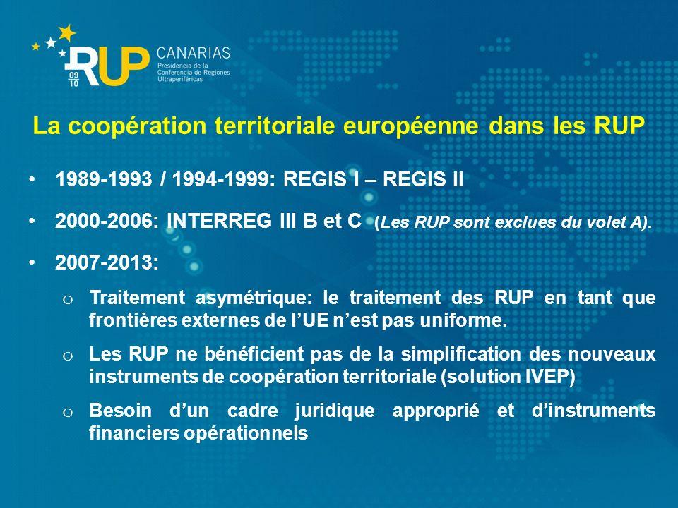 La coopération territoriale européenne dans les RUP