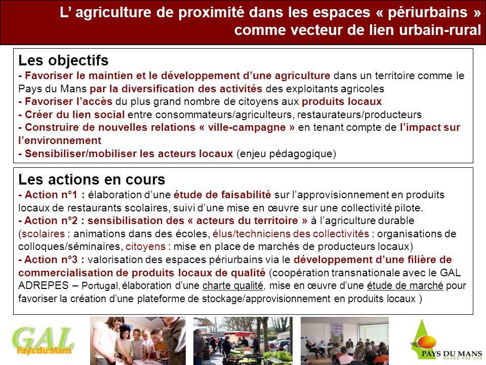 L' agriculture de proximité dans les espaces « périurbains »