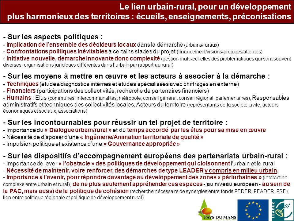 Le lien urbain-rural, pour un développement